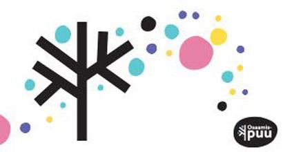Grafiikka: puun ympärillä palloja ja Osaamispuun logo.